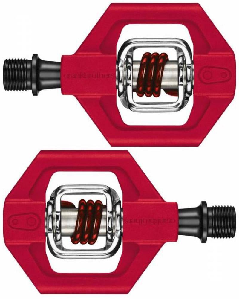 Pedal MTB Crank Brothers Candy 1 Vermelho com Taquinhos