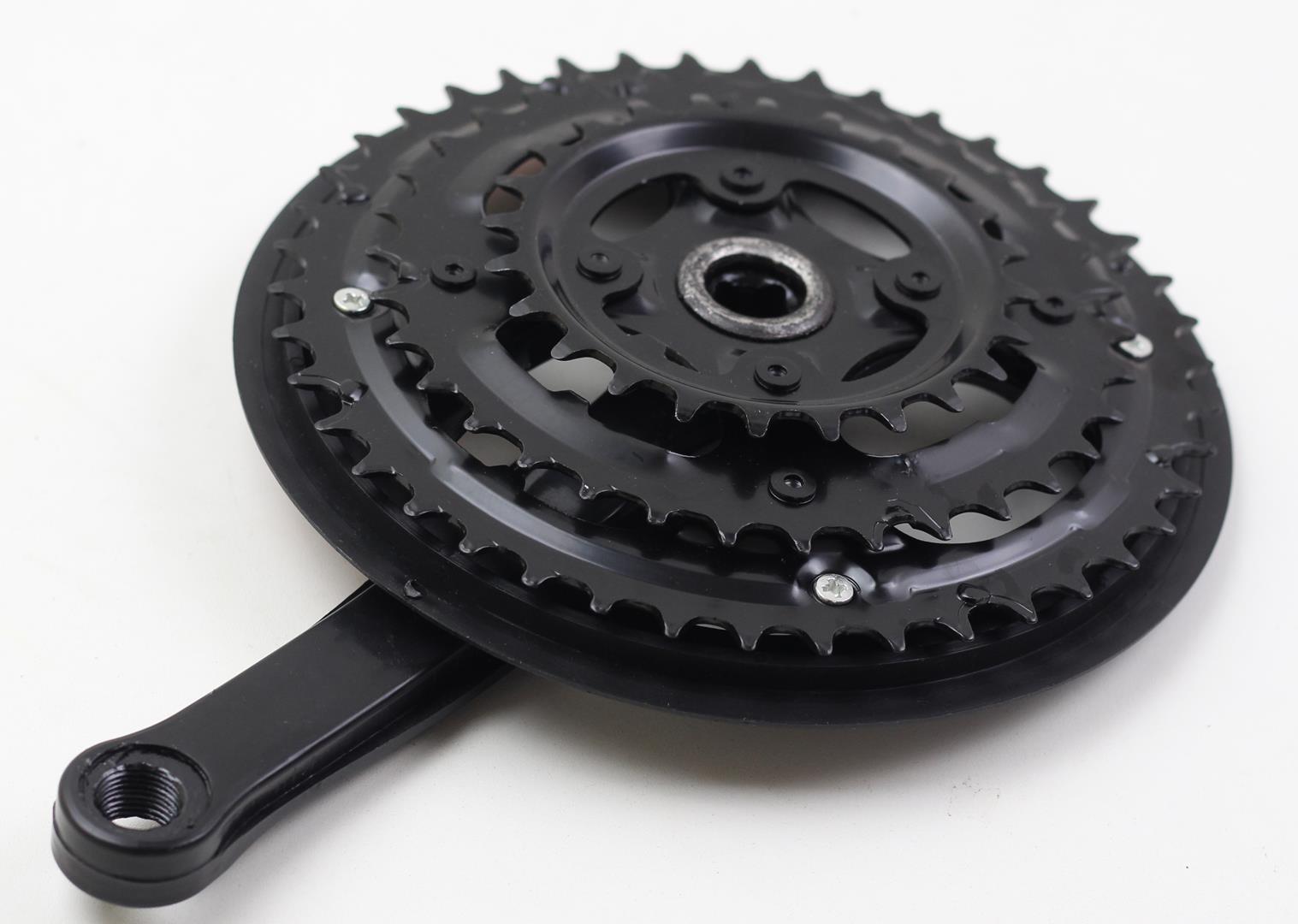 Pedivela Bicicleta Mountain-Bike GTS Element 42-32-24 dentes 170mm para 6-7-8 velocidades com Movimento