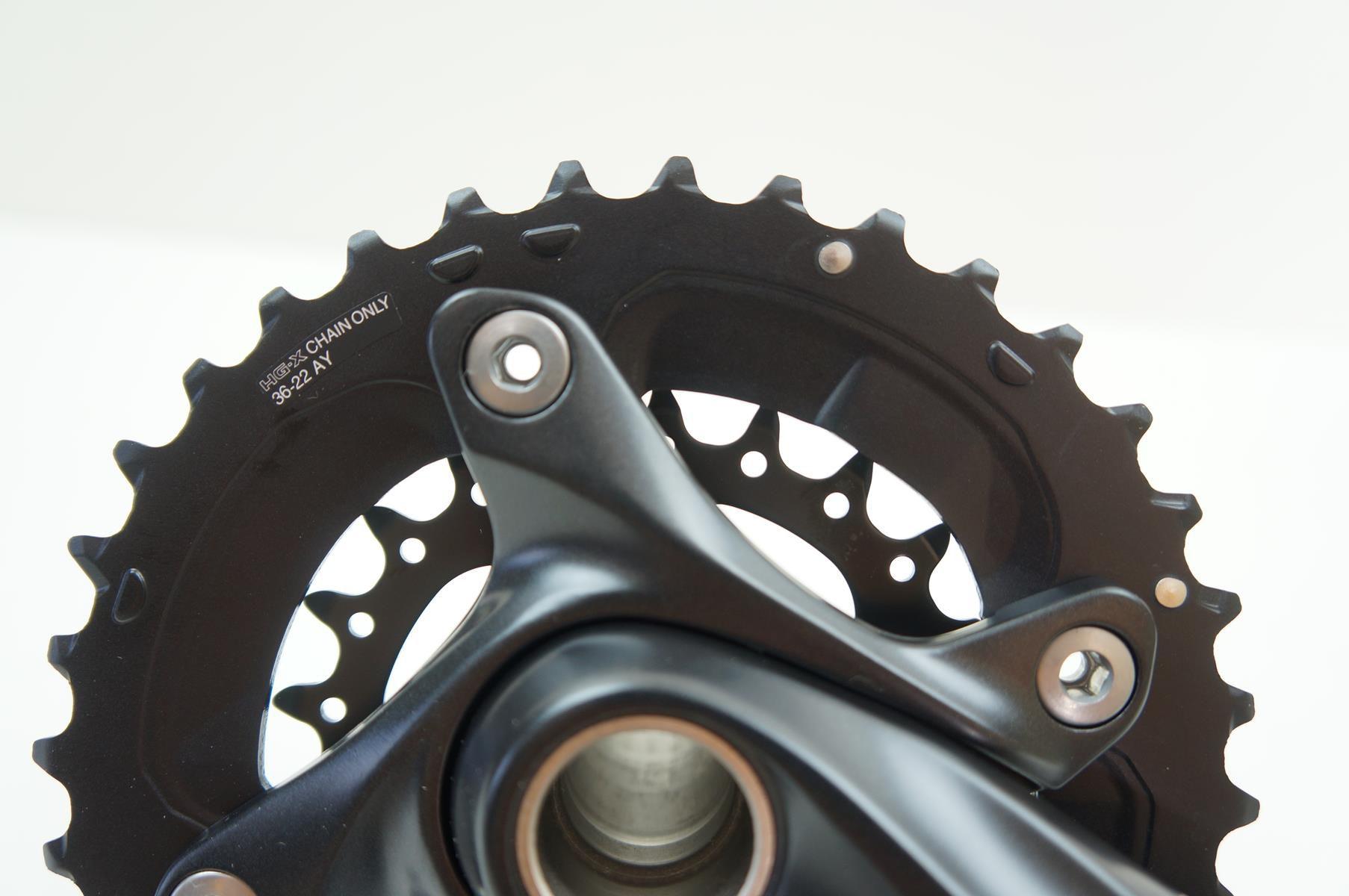 Pedivela Duplo Bicicleta Shimano Deore M617 2x10 36-22 175mm 10 velocidades
