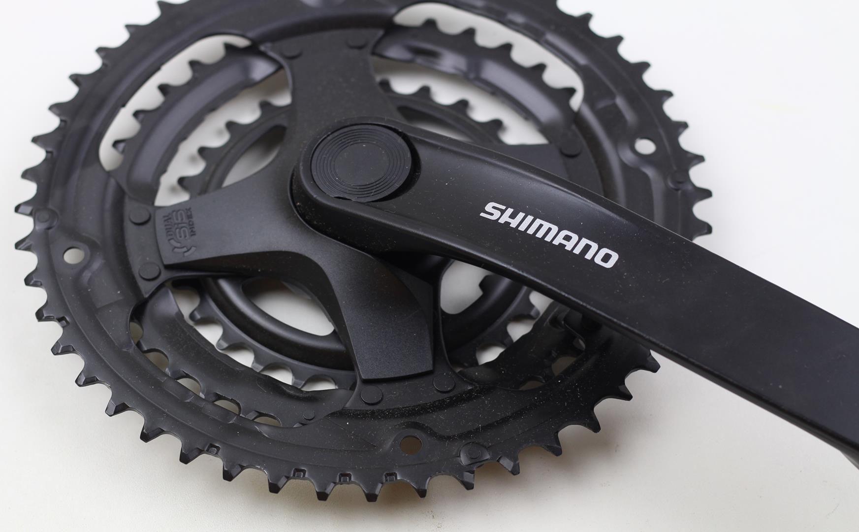 Pedivela Bicicleta Shimano Tourney TY301 6-7-8 velocidades 48-38-28 dentes 170mm Eixo Quadrado