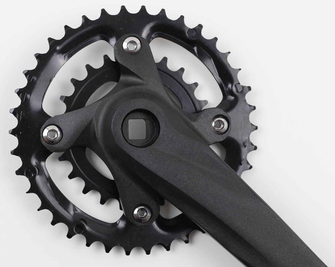 Pedivela Duplo Bicicleta Mountain-Bike Absolute 38-24 dentes 175mm para 9-10 velocidades