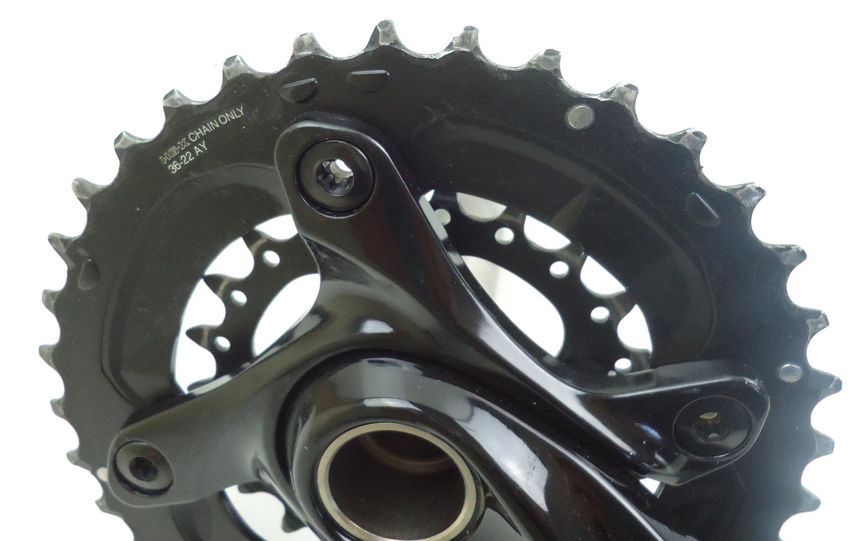Pedivela Duplo Bicicleta Shimano Deore M627 2x10 36-22 175mm 10 velocidades - USADO