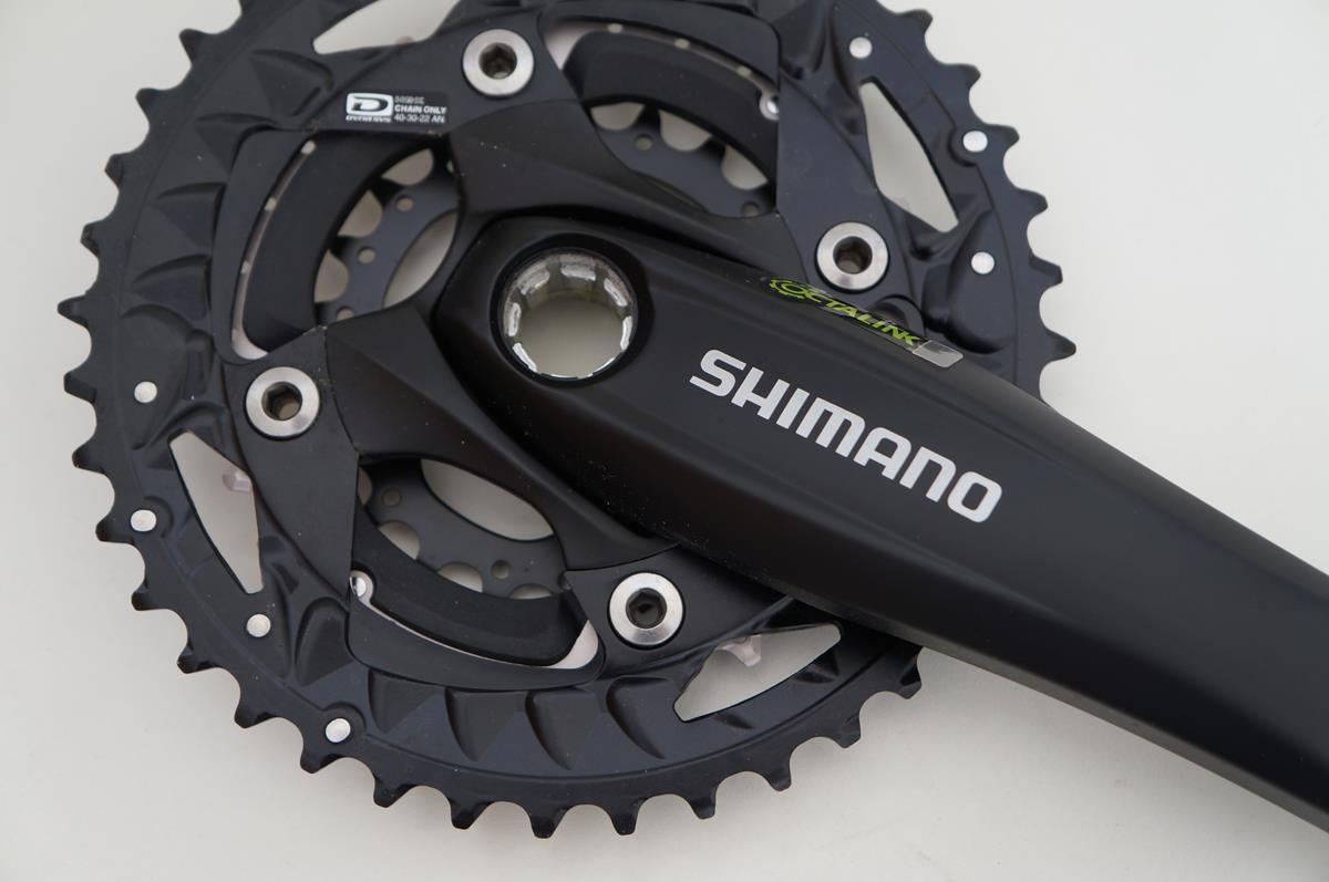 Pedivela Shimano Deore M523 40-30-22 175mm + Eixo Octalink Es25