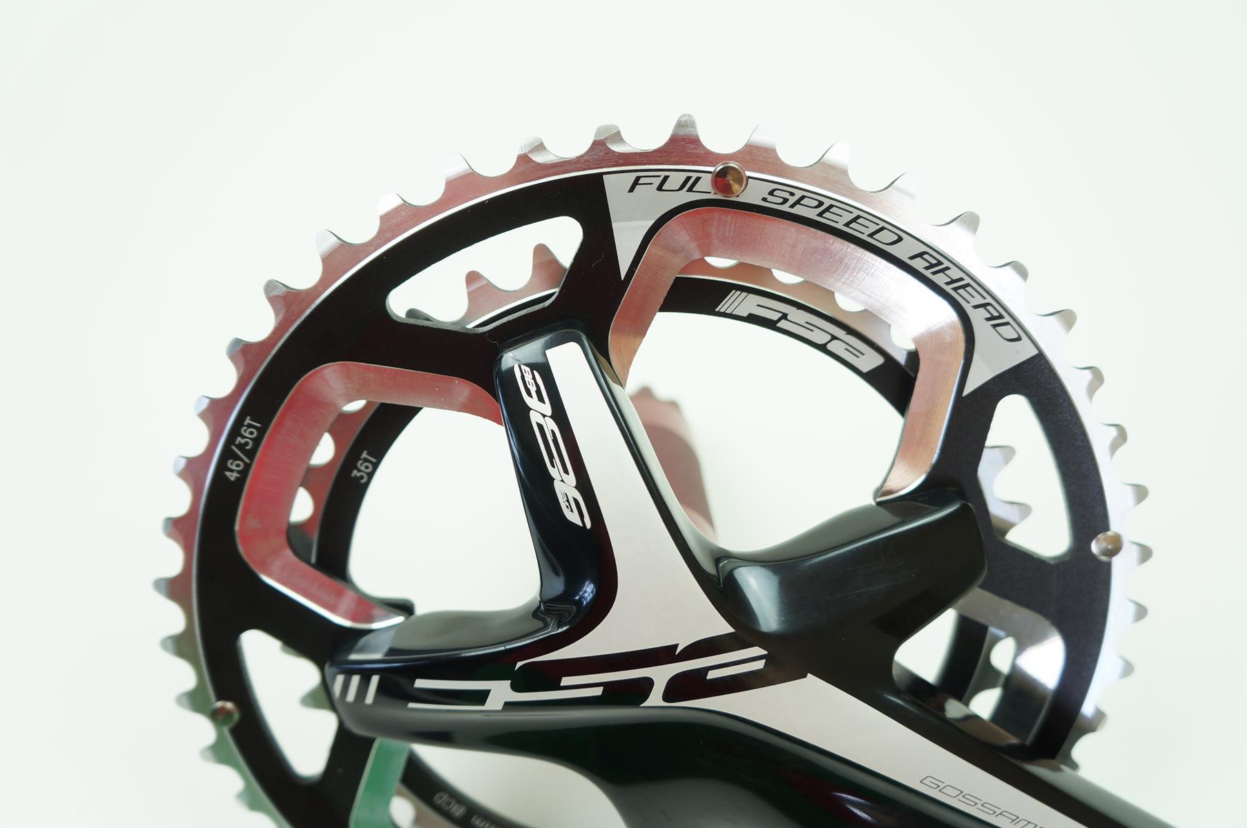 Pedivela Speed FSA Gossamer 175mm Coroas 46-36 dentes BB386 para Cyclocross