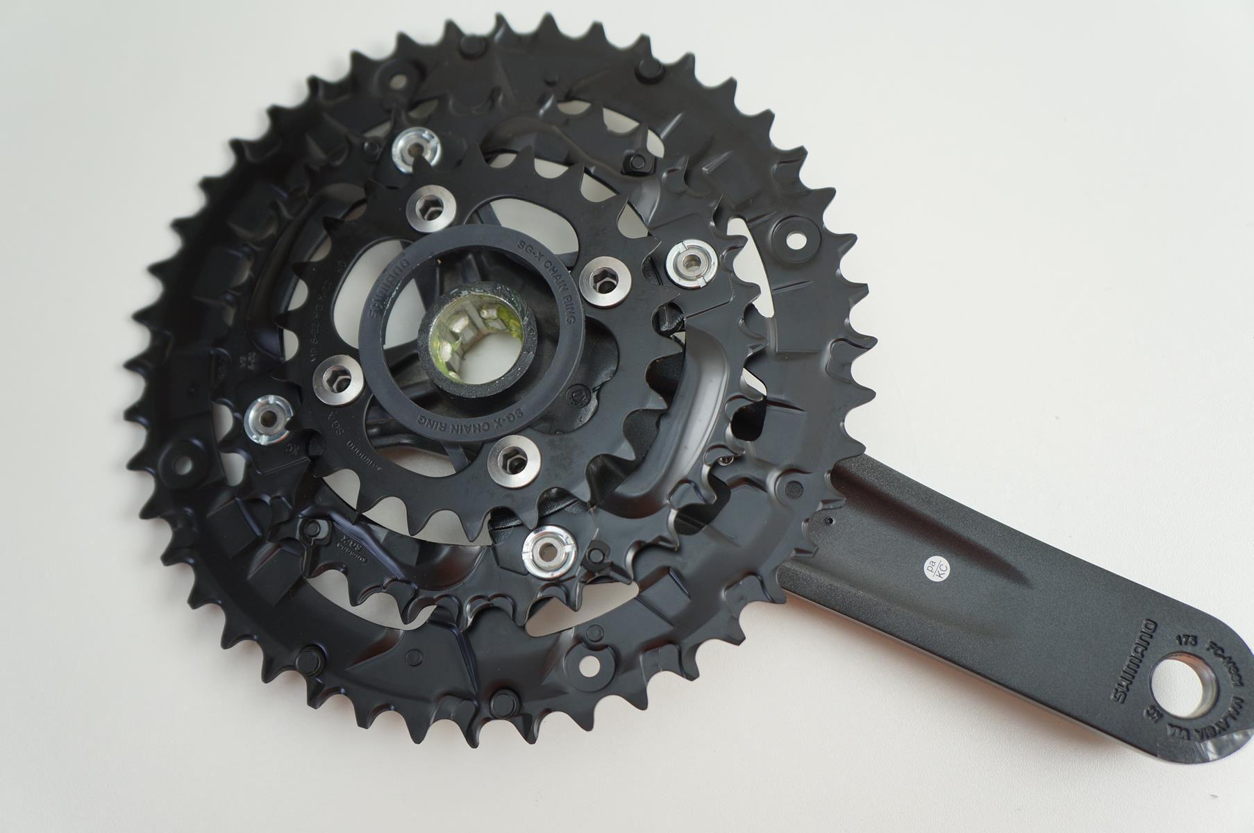 Pedivela Triplo Bicicleta Shimano Acera M391 9v 44-32-22d 175mm Com Movimento Octalink