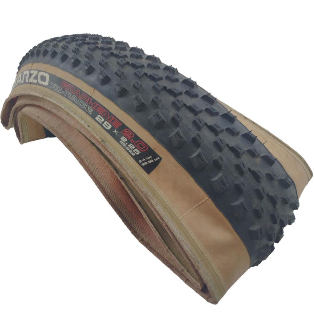 Pneu Bicicleta MTB Vittoria Barzo Graphane 2.0 Aro 29 x 2.25 Kevlar Tubeless Lateral Bege - USADO