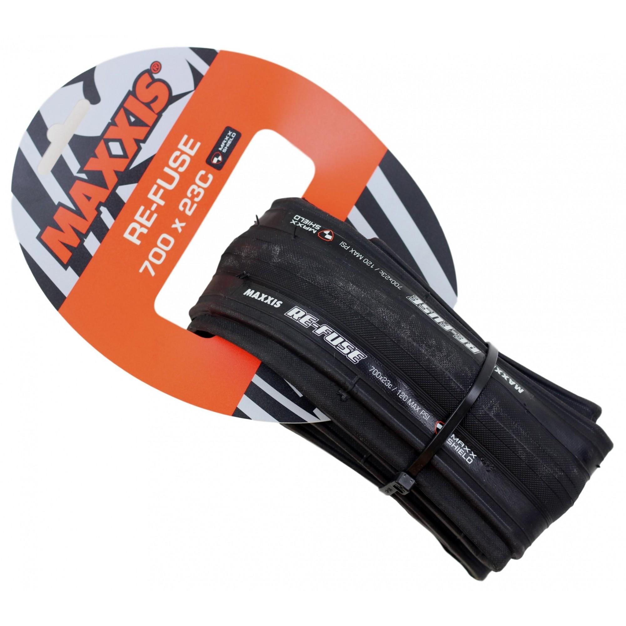 Pneu Bicicleta Speed Maxxis Refuse 700x23 Dobravél em Kevlar Preto Road 60tpi