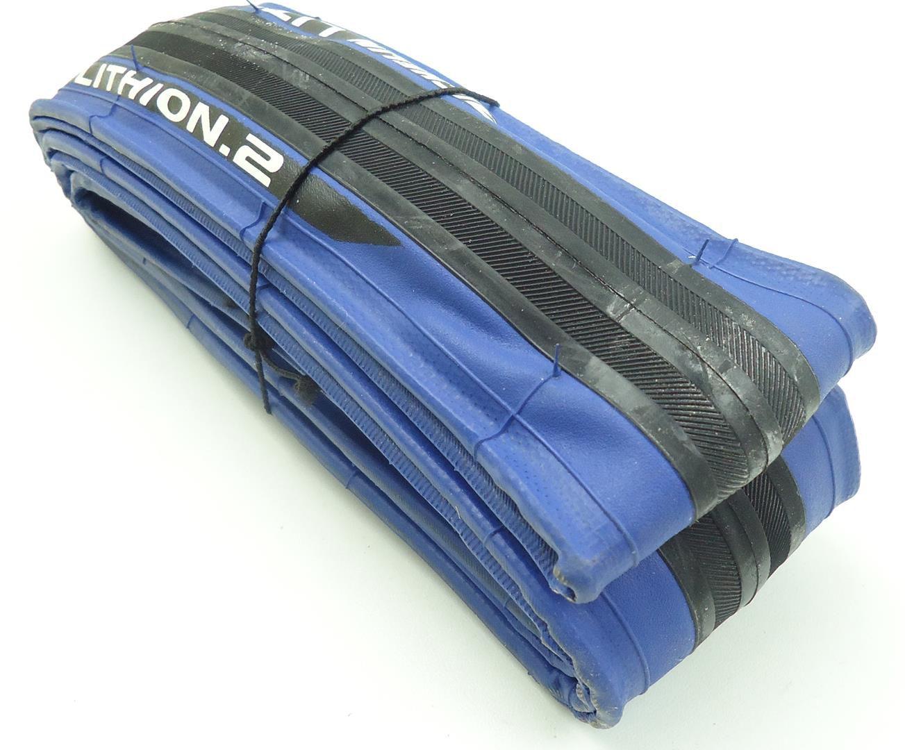 Pneu Bicicleta Speed Michelin Lithion 2 700x23 Borda Azul Dobravél em Kevlar
