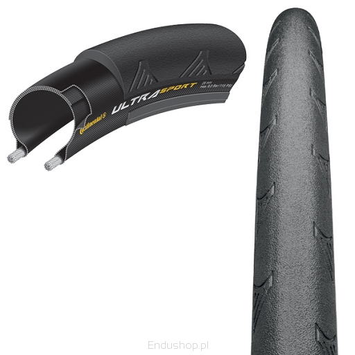 Pneu Road Continental Ultra Sport II 700x28 Kevlar Speed Preto
