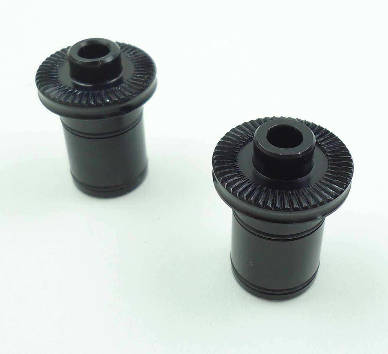 Ponteiras End Caps Novatec Eixo 9mm para Cubos Dianteiro D791SB