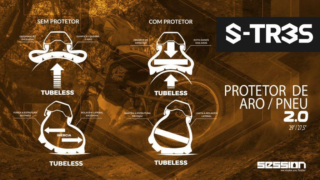 Protetor Session Defender para Aro/Pneu Tubeless 27,5 29 Anti Impacto