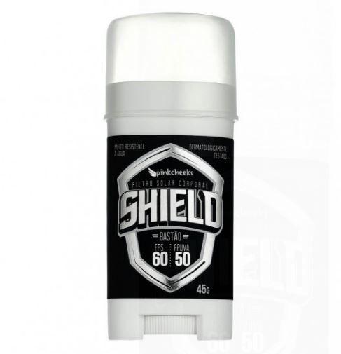 Protetor Solar Corporal em Bastão Shield Pinkcheeks 45g - FPS 60/FPUVA 50