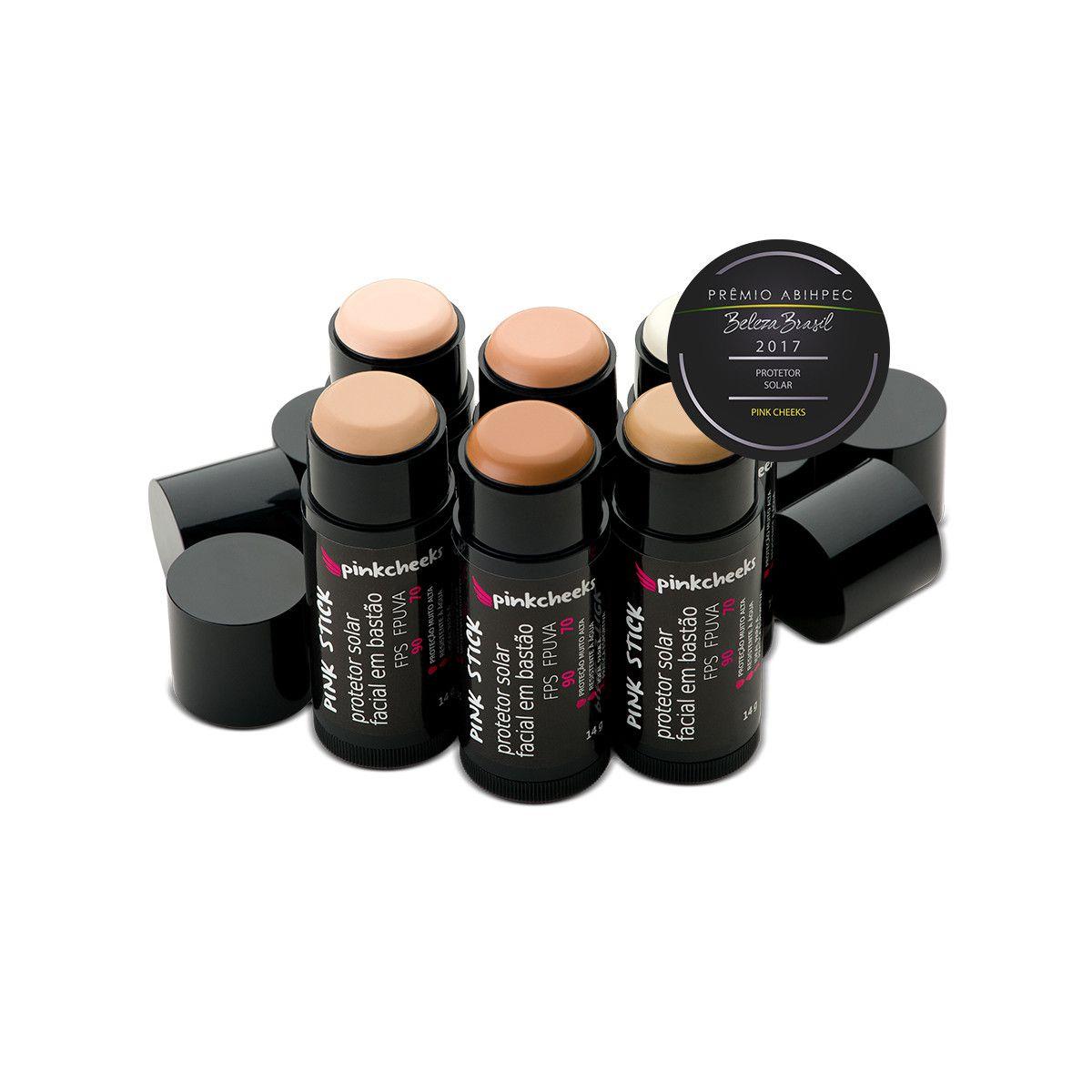 Protetor Solar Facial em Bastão Pink Stick Pinchcheeks 14g - FPS 90/FPUVA 70