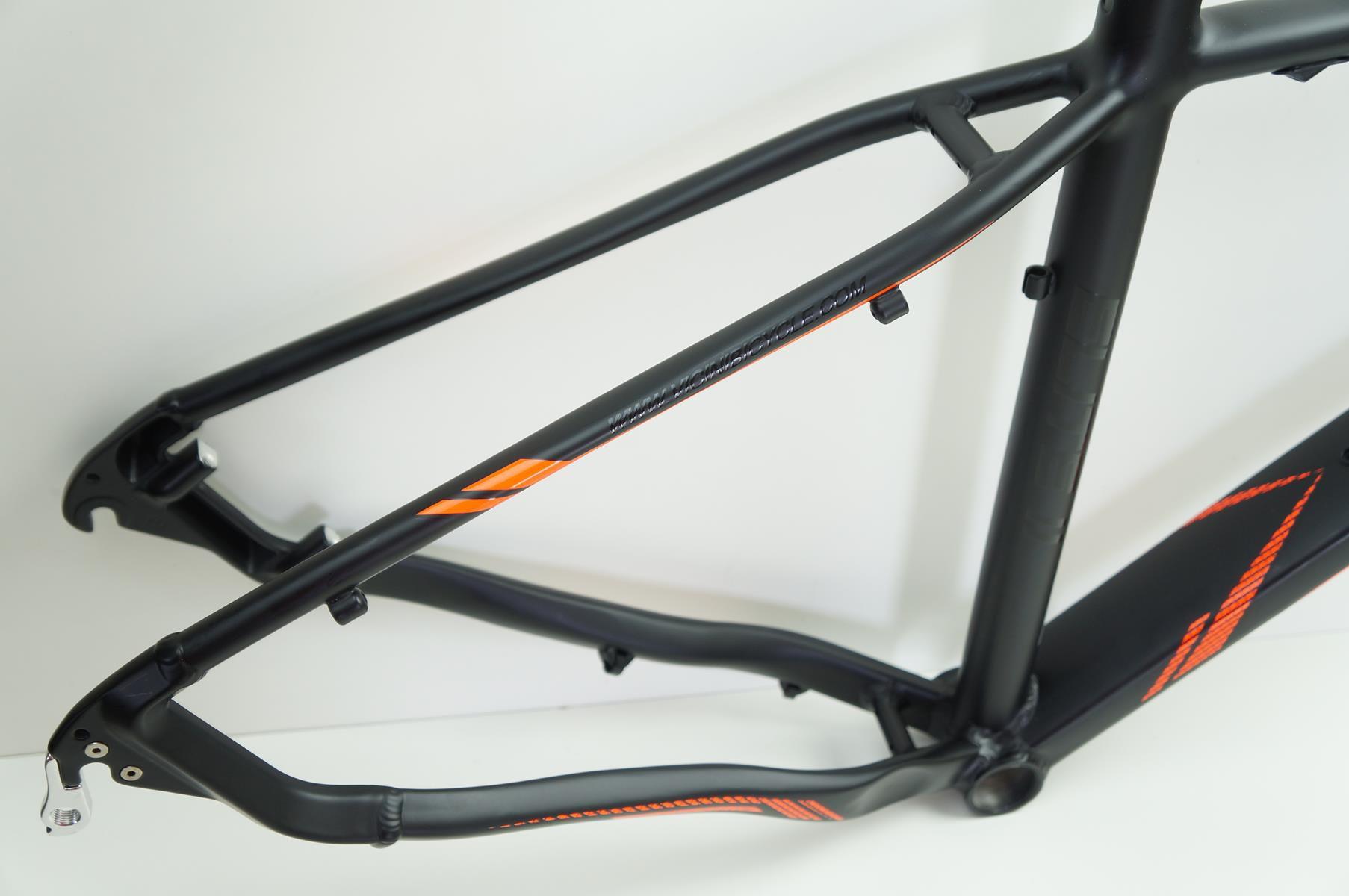 Quadro Bicicleta MTB Ballistech Elite II Aro 29 Preto Fosco Laranja em Aluminio 2019