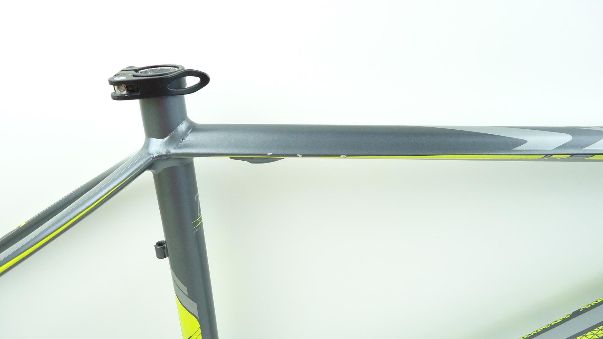 Quadro Bicicleta Mtb First Athymus Aro 29 Tamanho 21 em Aluminio Cinza Amarelo Fosco - USADO