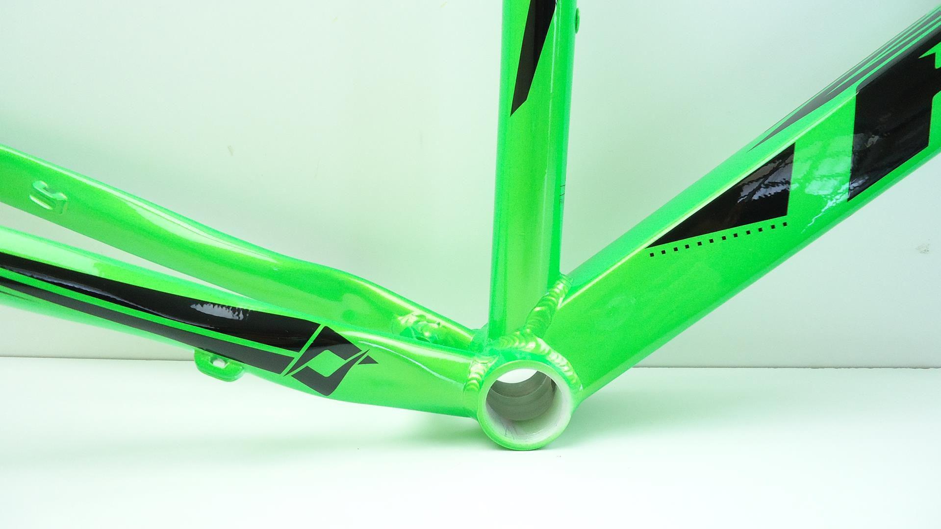 Quadro Bicicleta Mtb First Athymus Colors Aro 29 Tamanho 21 Verde Brilhante em Aluminio + Brinde