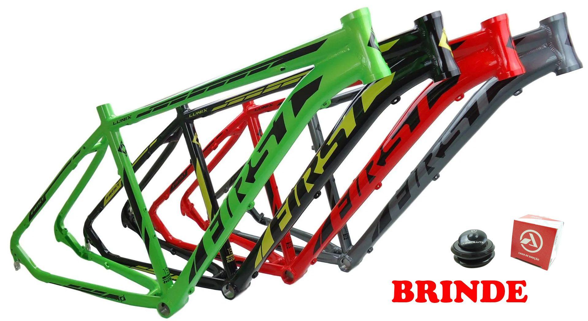 Quadro Bicicleta MTB First Lunix Aro 29 em Aluminio Modelo 2020 Diversas Cores