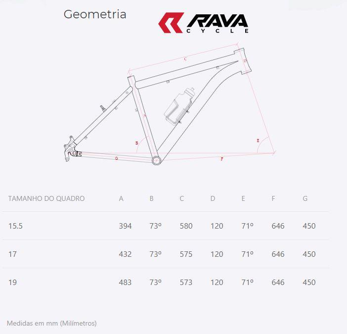 Quadro Bicicleta MTB Rava Pressure Aro 29 em Aluminio 2019 Diversas Cores + Brinde