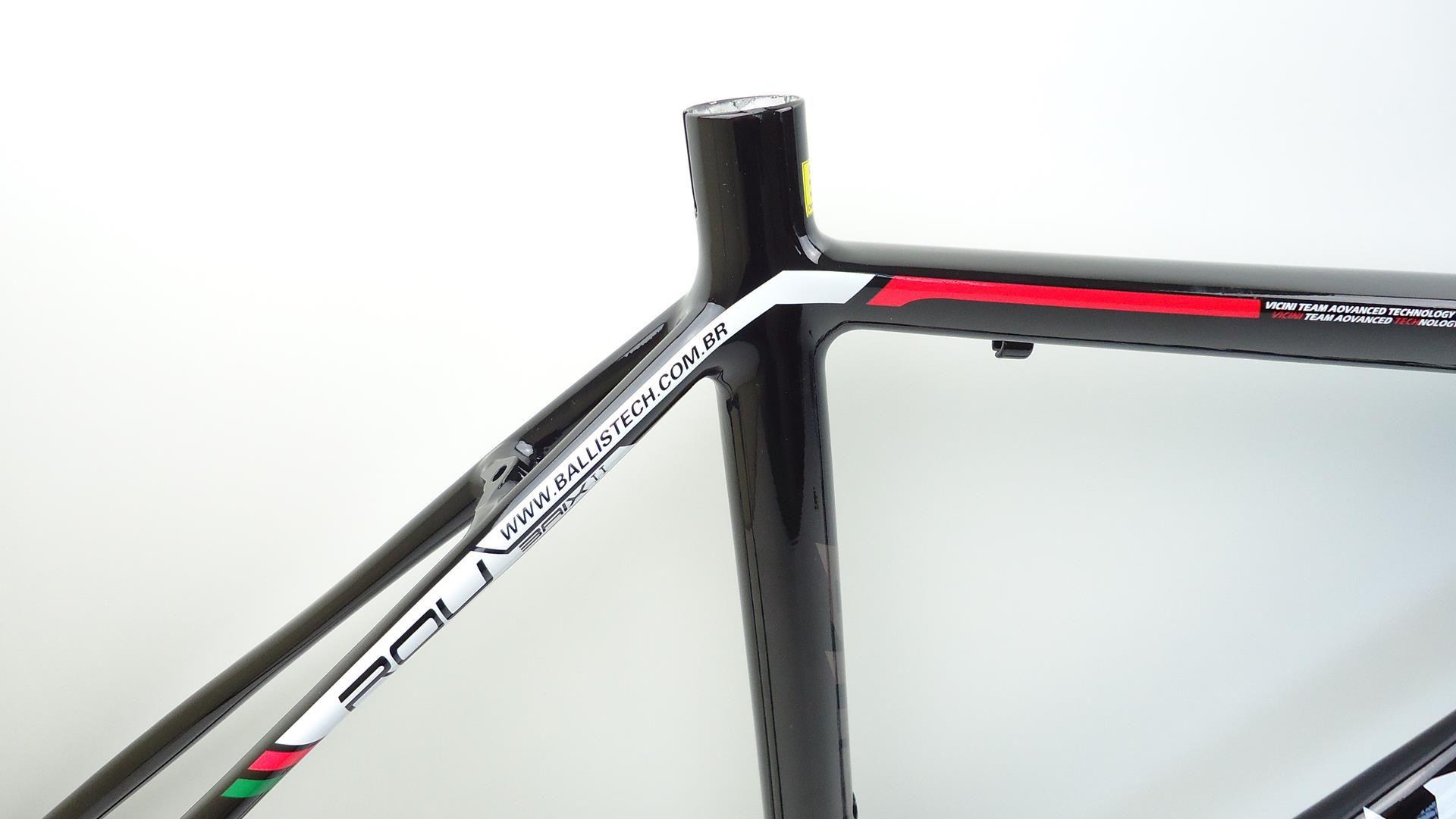 Quadro Bicicleta Speed Ballistech Roubaix em Aluminio Garfo Carbono Aro 700