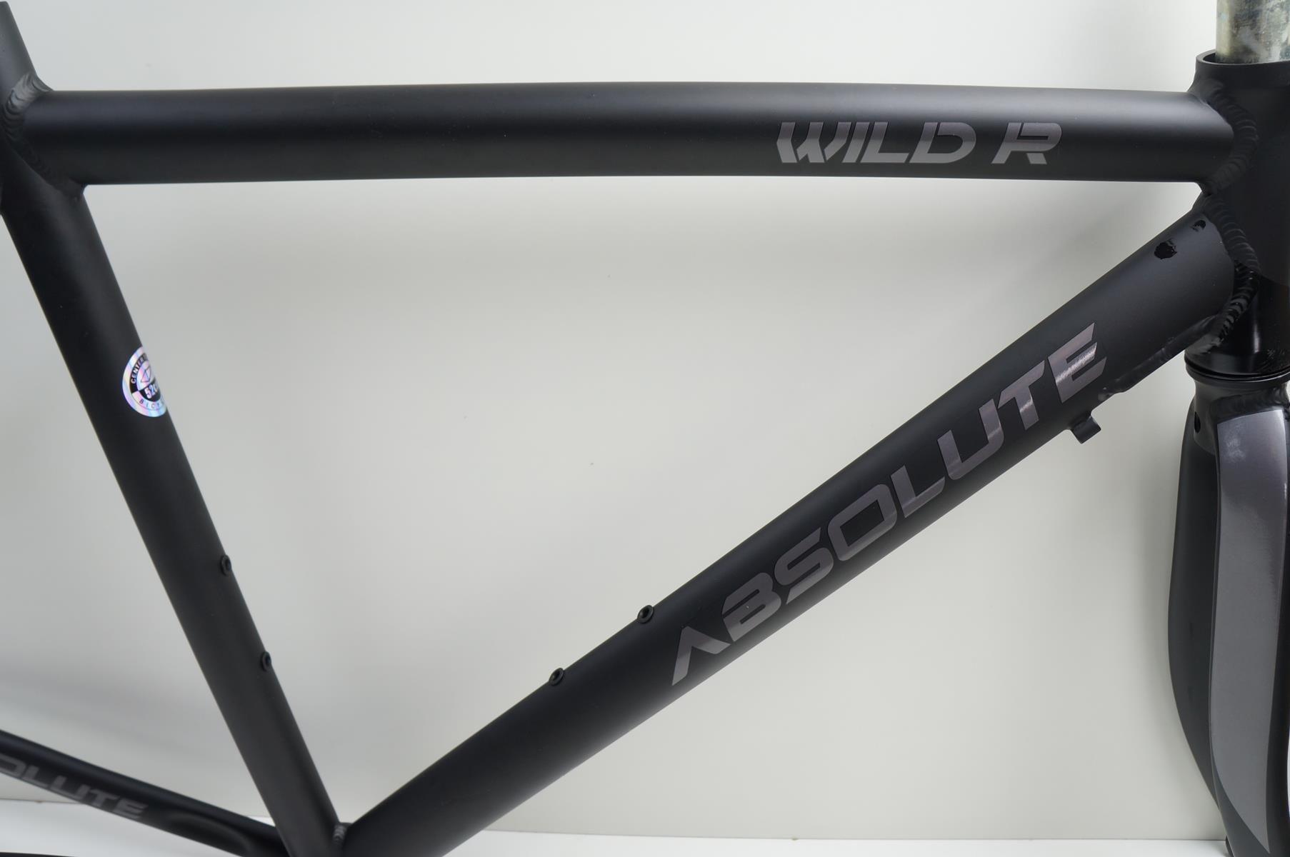 Quadro Bicicleta Speed Absolute Wild R Preto Fosco em Alumínio com Garfo Aro 700
