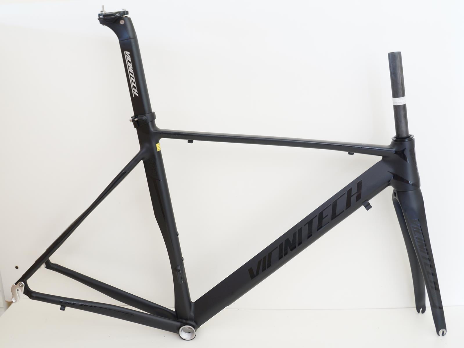 Quadro Speed Vicinitech Roubaix Preto Fosco em Aluminio Garfo Carbono