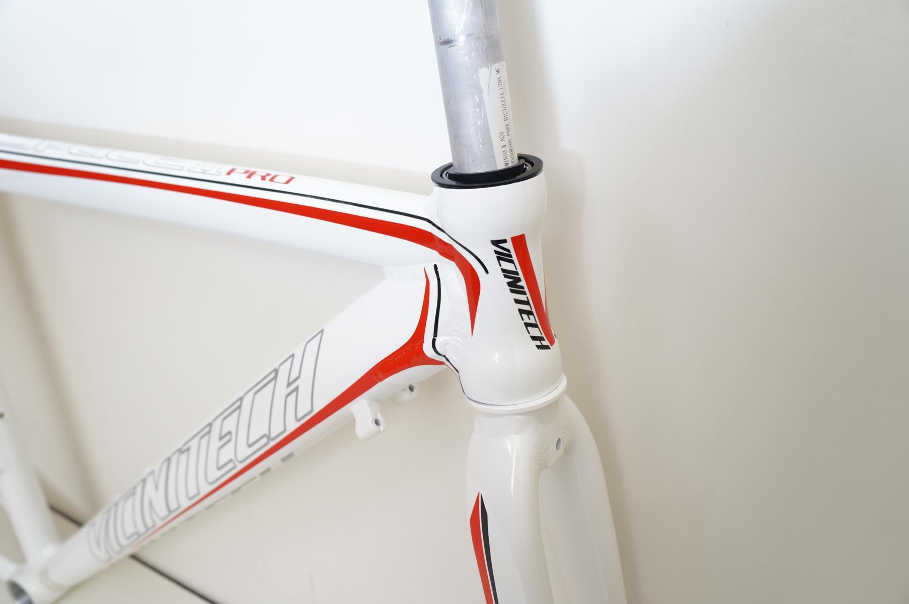 Quadro Speed Vicinitech Space Pro Branco com Vermelho em Alumínio