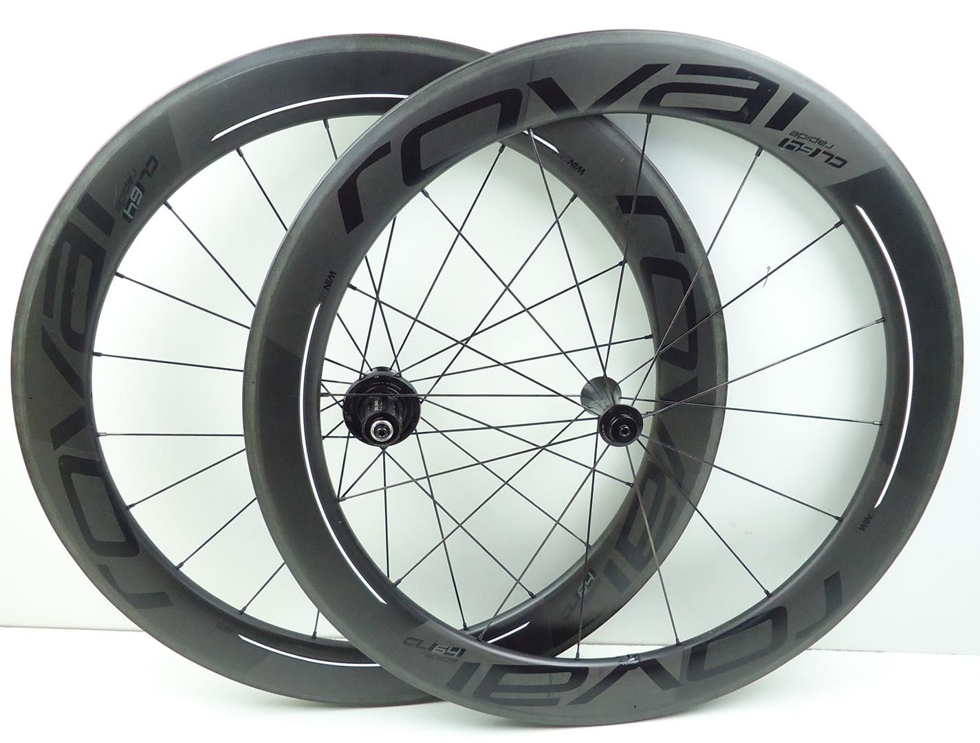 Rodas Bicicleta Speed Roval Rapide CL 64 Carbono Tubeless Aro 700 Clincher - USADO