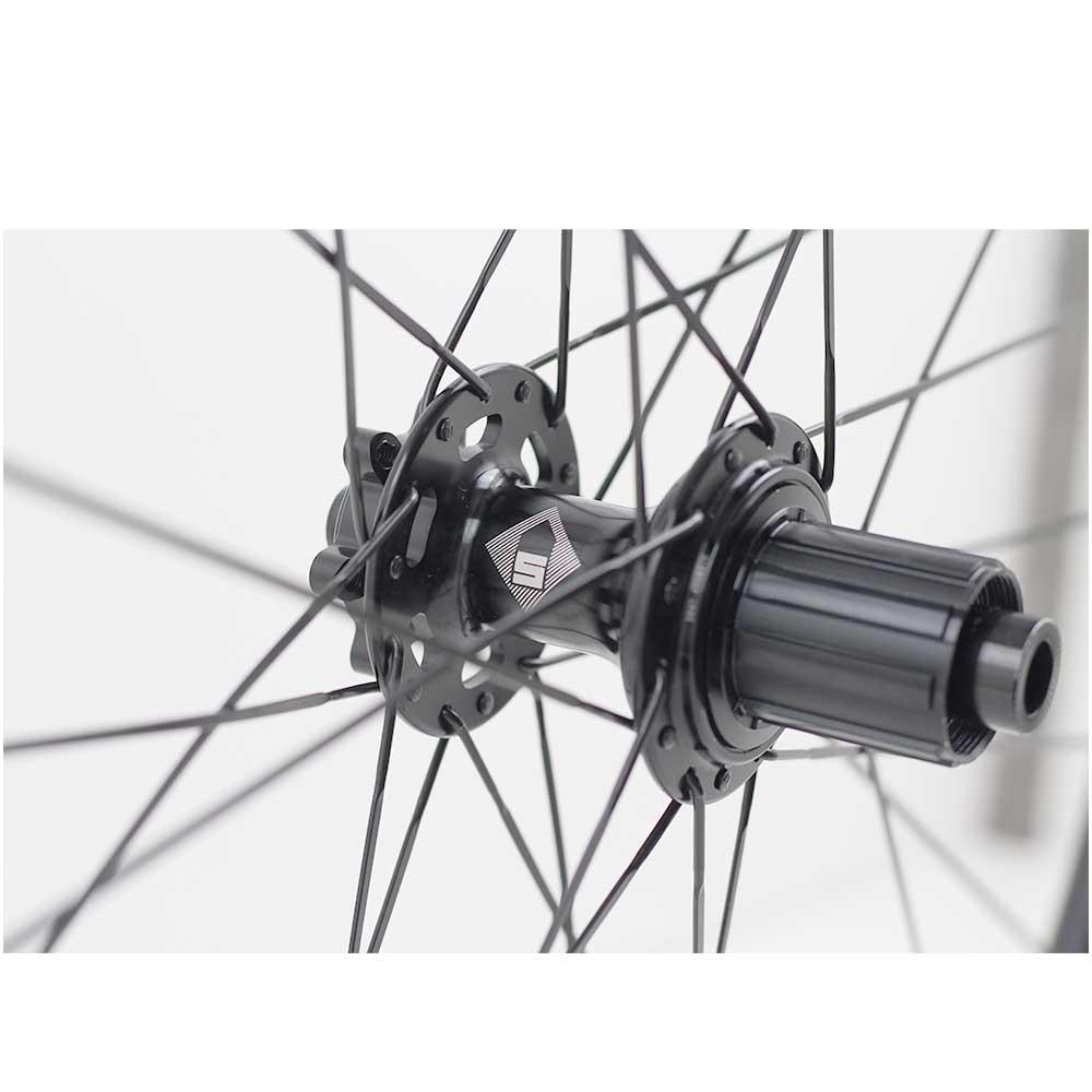 Rodas 700 Estrada Speed Session SPR30 Freio à Disco 6 furos Alumino Clincher Tubeless Eixos 12x100 12X142mm