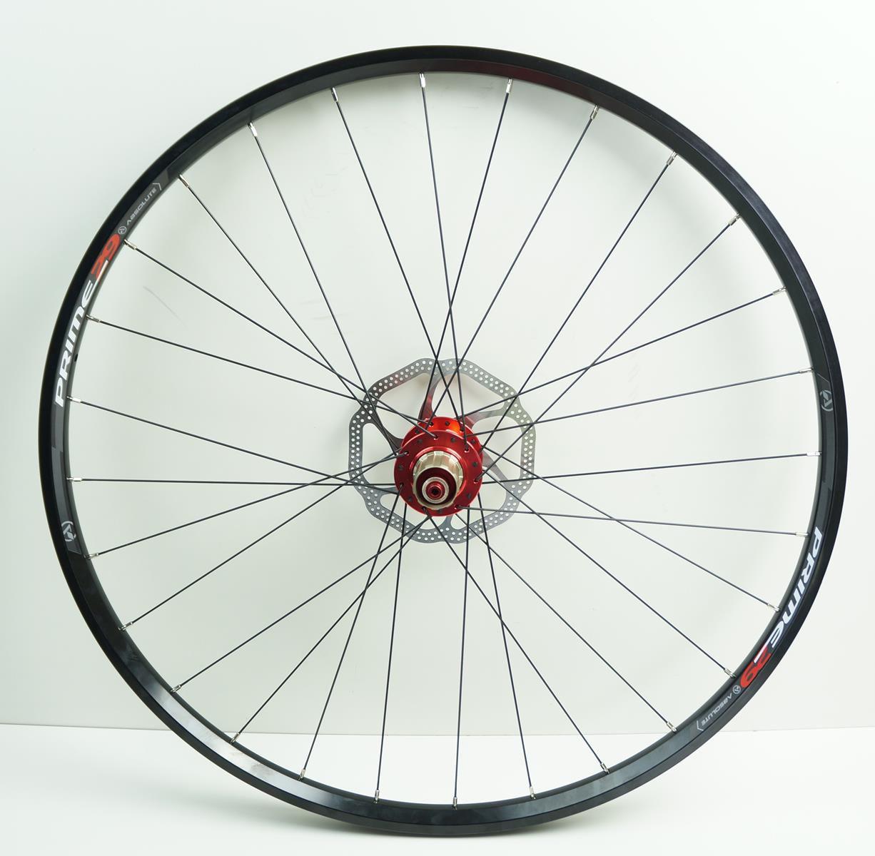 Rodas MTB Absolute Prime Disc Aro 29 Alumino Preta com Cubo Vermelho Com Discos