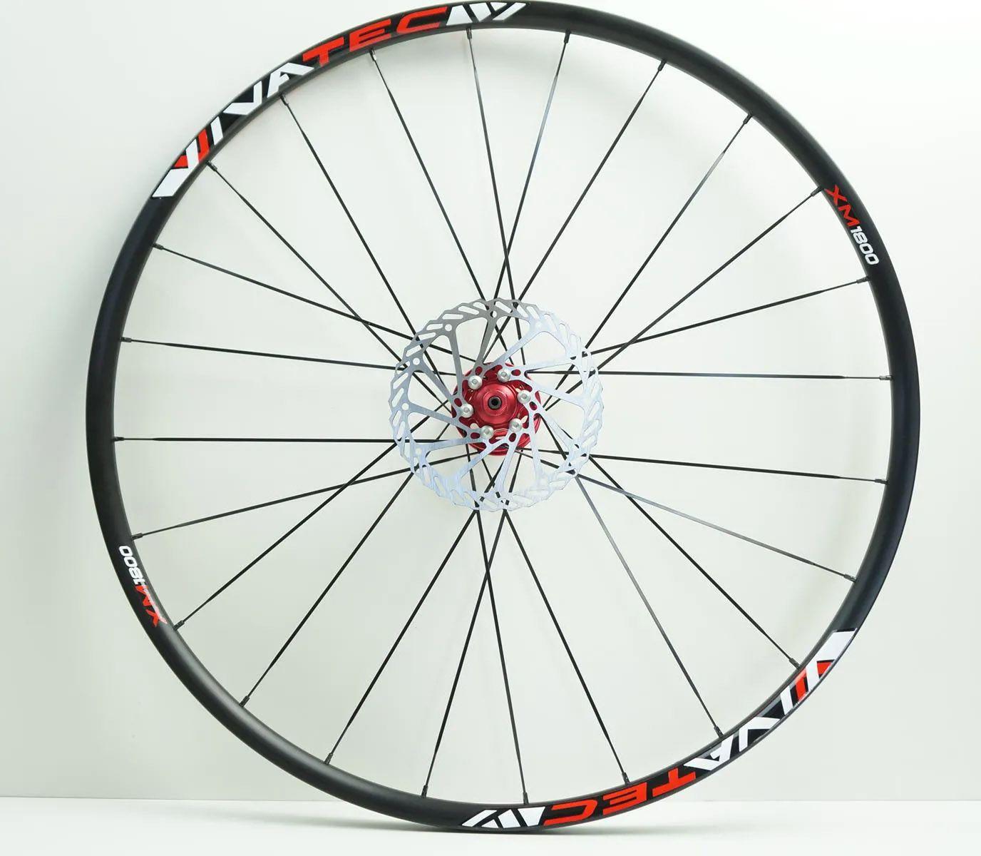 Rodas Vicinitech XM 1800 Disc Aro 29 Alumino Eixo 9 Preta com Cubo Vermelho