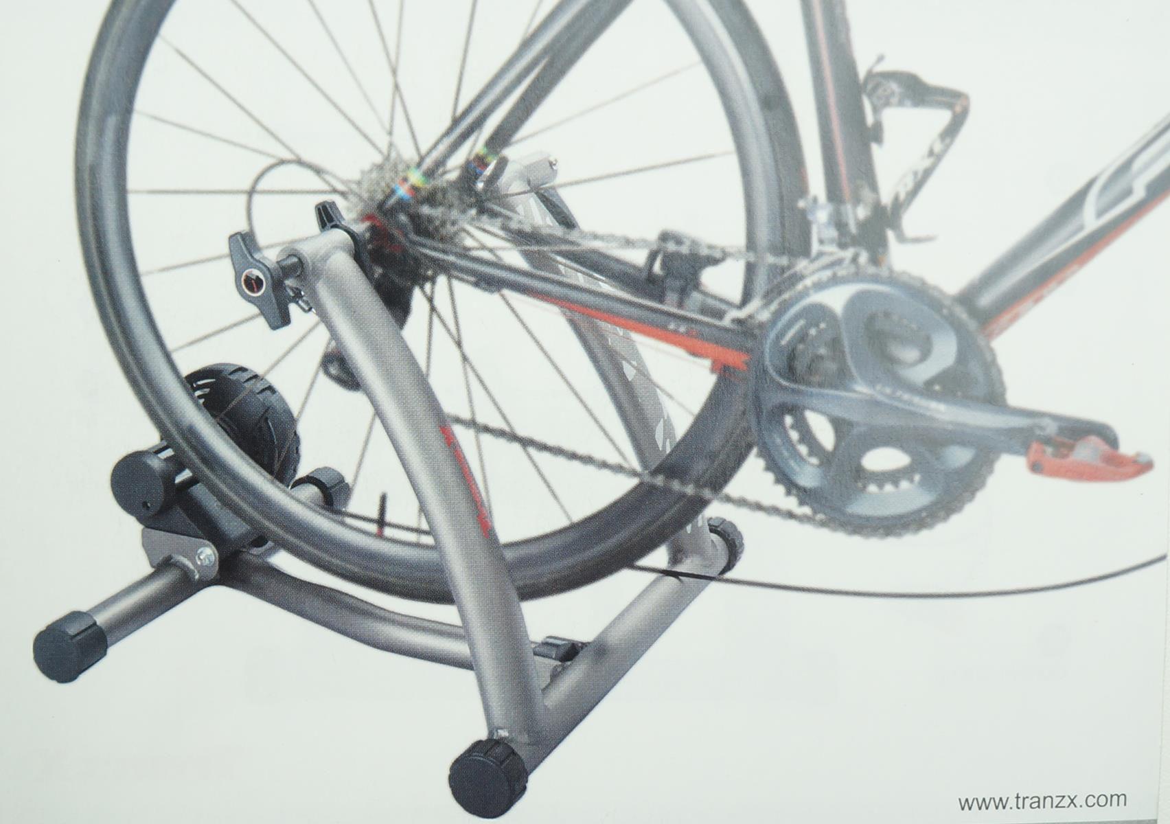 Rolo De Treinamento Bicicletas Tranzx JD138 Em Alumínio Com Regulagem
