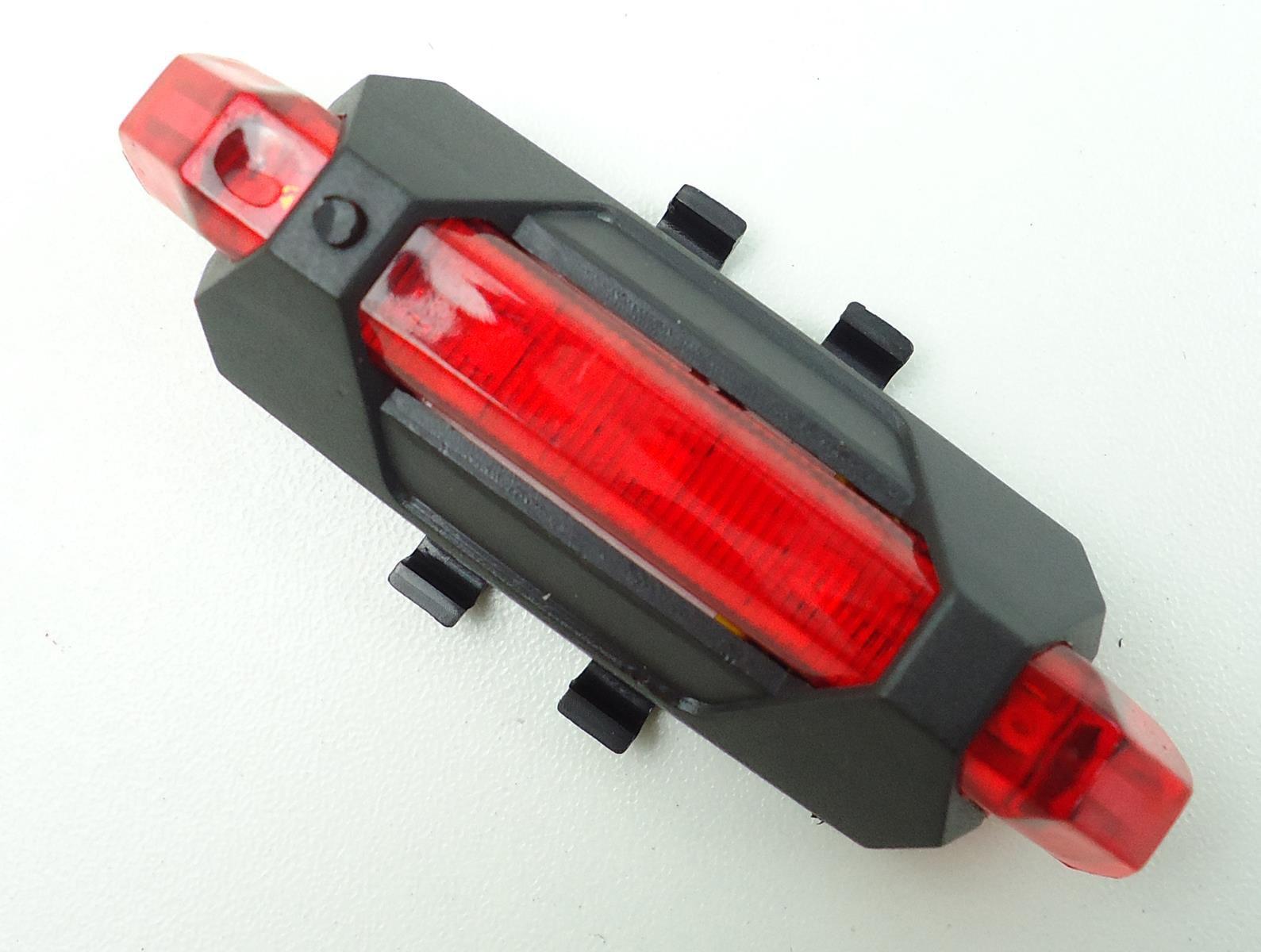 Sinalizador com Led JWS JY-918 Recarregável USB Led Vermelho 4 Modos Super Forte
