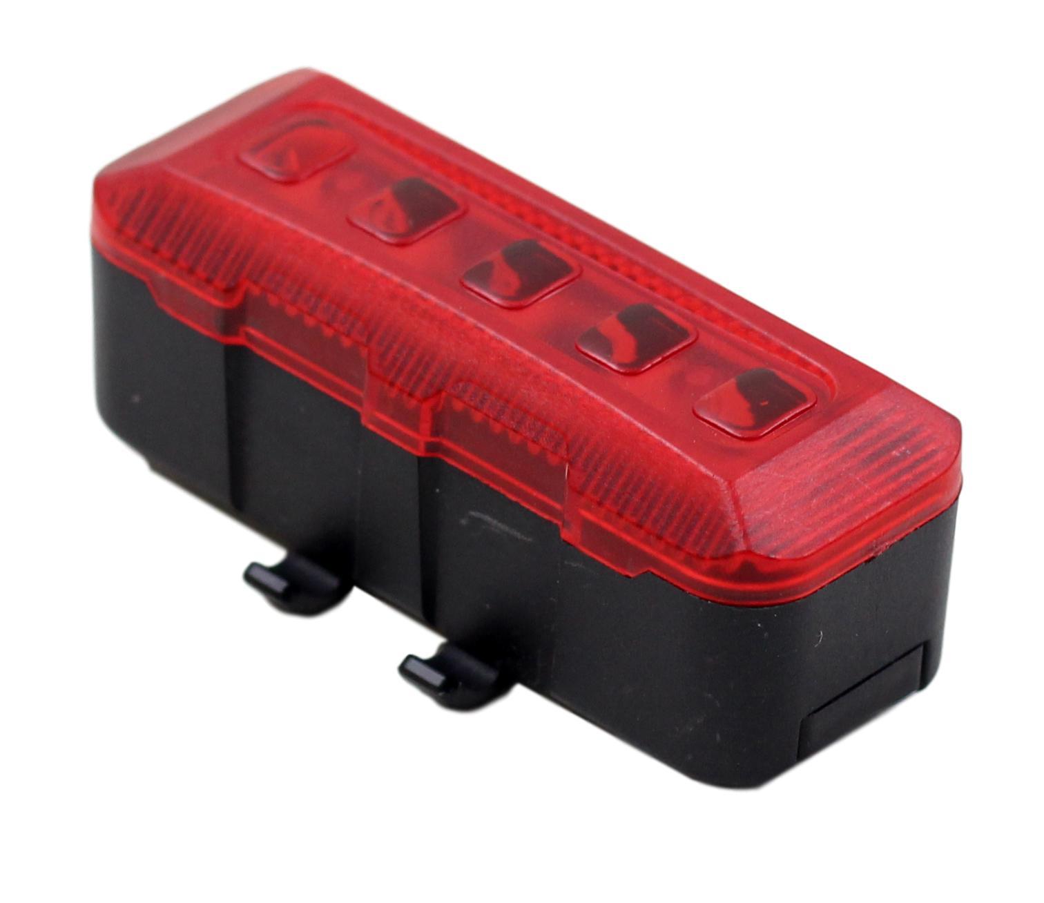 Sinalizador Traseiro JWS WS-201 com 5 Leds Vermelho Modos Luz Noturna Alta Potência