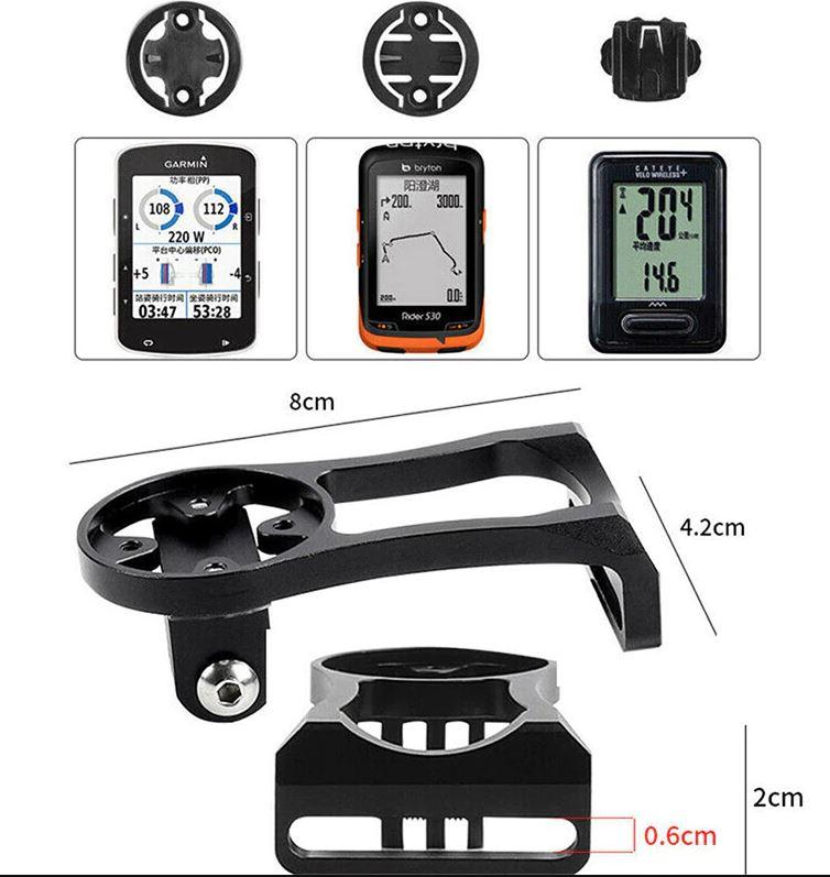 Suporte Avançado de Bicicleta para GPS Garmin Edge Bryton Cateye e Câmera GoPro