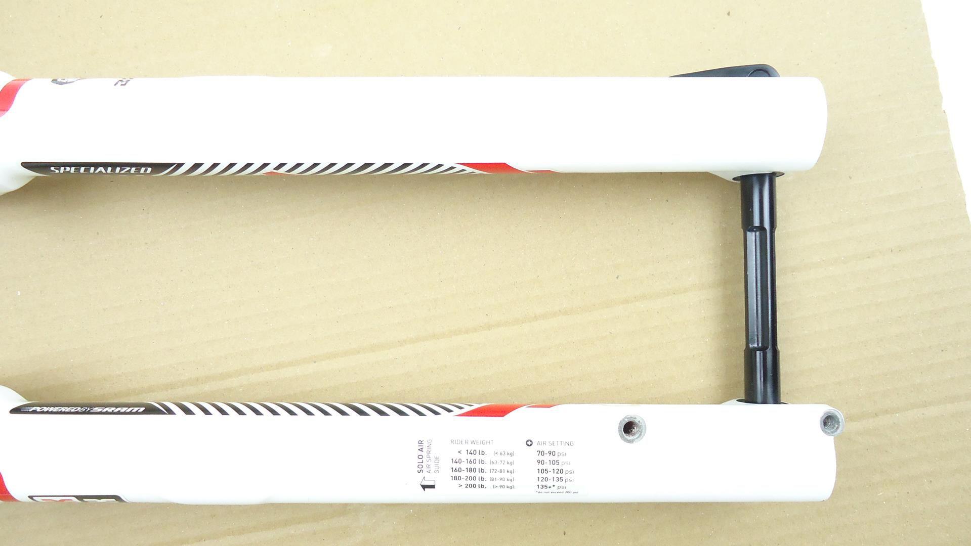 Suspensão 29 Rock Shox Sid Brain WC Carbono 95mm Solo Air QR15x100mm - USADO