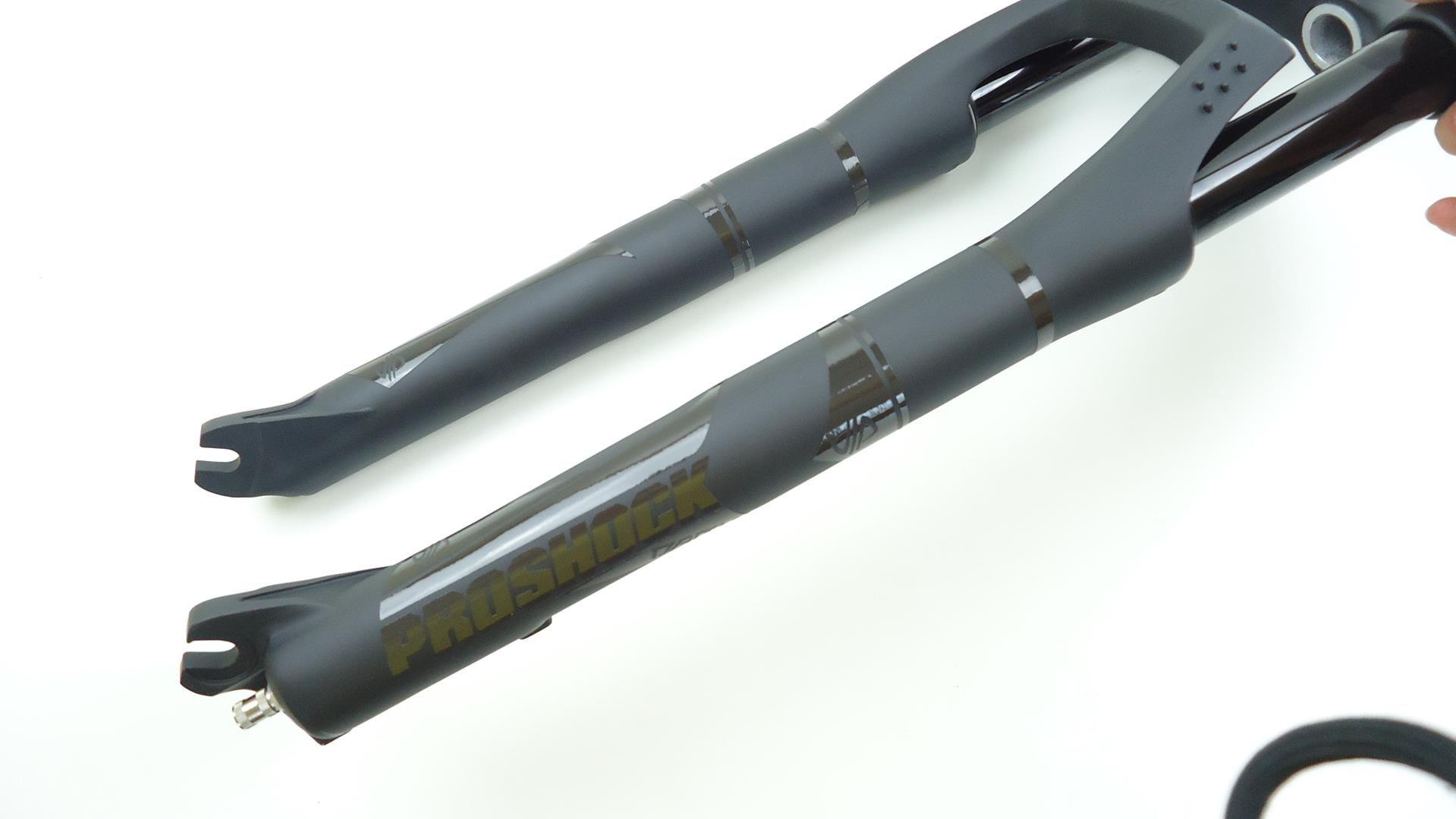 Suspensão Proshock Onix Dark 29 Reta 100mm Eixo 9mm Preta Trava Guidão
