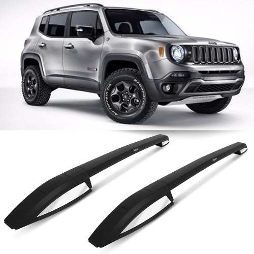 Kit Estribo Cromado E Longarinas Rack De Teto Jeep Renegade
