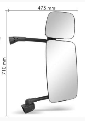 Espelho Retovisor  Scania paraG / R 124