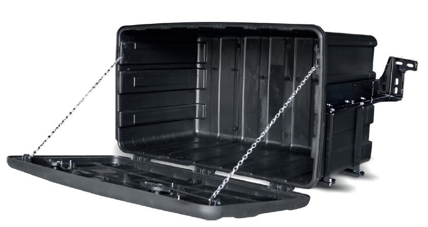 Caixa plastica de lona e ferramentas para caminhões grande Bepo