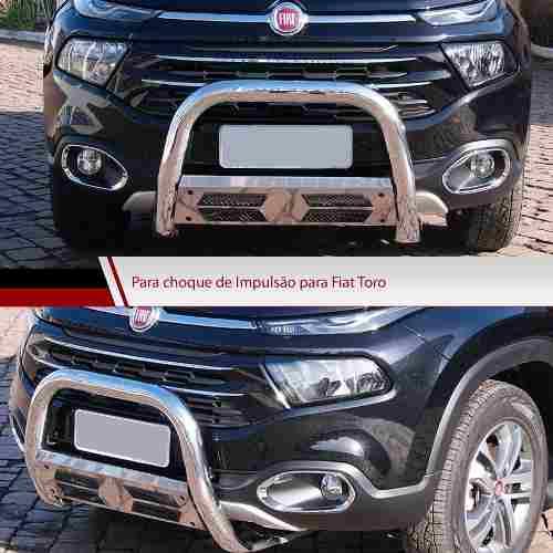 Kit Fiat Toro Santo Antônio Engate Estribo Quebra Mato Cromo