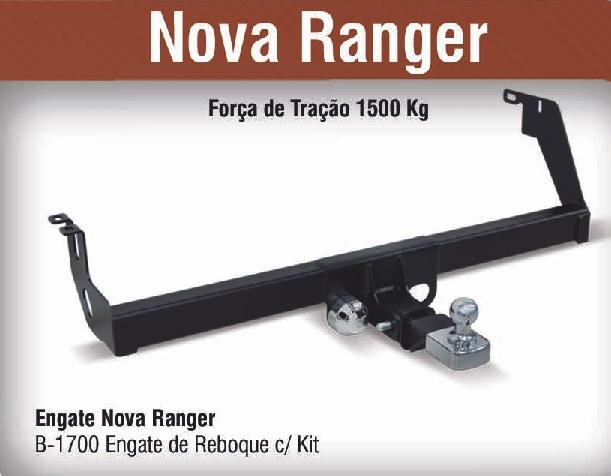 Engate de reboque removível nova ranger  2013 2014 2015 2016  - TERRA DE ASFALTO ACESSÓRIOS