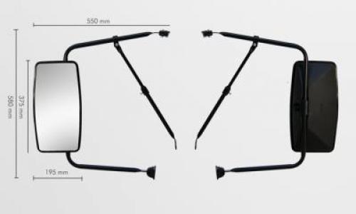 Conjunto Espelho Plano para MB 1114 / 1934 (18mm)