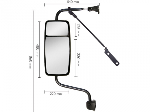 Conjunto Espelho Convexo C /  Bifocal Convexo LD para VW Constellation