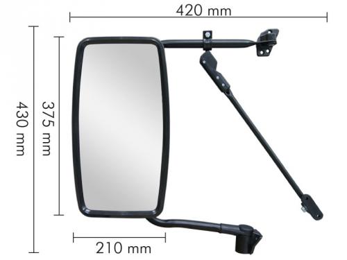 Conjunto Espelho Plano para VW Delivery 5.140 / 8.150