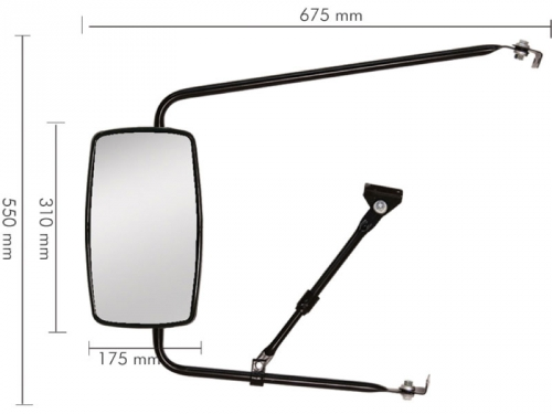 Conjunto Espelho Plano para F6000 / 7000 / 8000 / 11000 / 13000 / 21