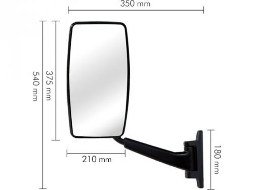 Conjunto Espelho Plano LD para Ford Cargo 712 / 814 / 815 / 915 ...2009
