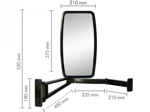Conjunto Espelho Plano LD para Ford Cargo Pesado ...2010