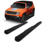 Estribo Lateral Oblongo Preto Jeep Renegade