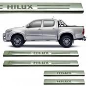 Protetor de Soleira Aço Inox Hilux Cabine Dupla 2005 a 2015