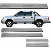 Protetor de Soleira Aço Inox S10 Cabine Dupla 1997 A 2011